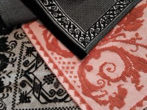 Traditional Textiles Samugheo, Orange + Black